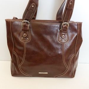 Nine West brown tote style purse